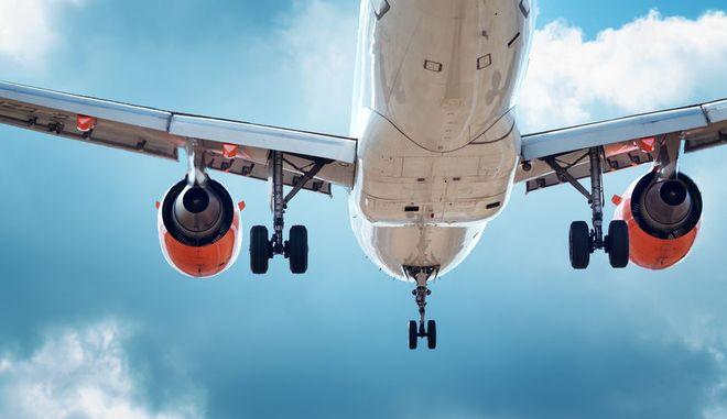 Προσγείωση αεροπλάνου. Φωτογραφία Αρχείου
