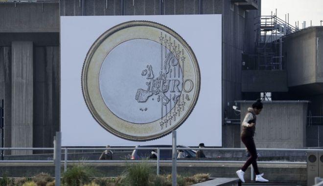 Εικόνα του ενιαίου νομίσματος της ευρωζω΄νης