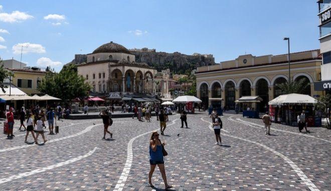 Η πλατεία Μοναστηρακίου τον Αύγουστο του 2020