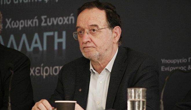 ΑΘΗΝΑ-Συνέντευξη από τον υπουργό, Παναγιώτη Λαφαζάνη και τον νέο πρόεδρο και διευθύνοντα σύμβουλο της ΔΕΗ τον Μανώλη Παναγιωτάκη.(EUROKINISSI-ΣΤΕΛΙΟΣ ΣΤΕΦΑΝΟΥ)