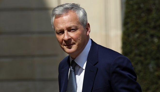 Ο Γάλλος υπουργός Οικονομικών Μπούνο Λε Μερ στο Παρίσι