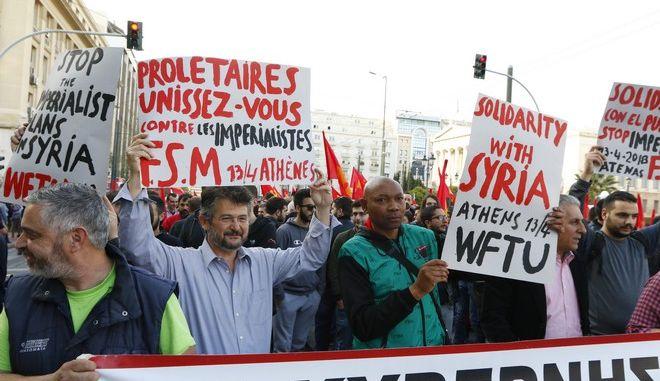 Αντιπολεμικές συγκεντρώσεις στην Αθήνα