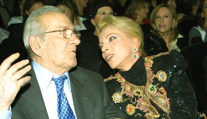 Ο Αλέκος Αλεξανδράκης με τη Νόνικα Γαληνέα