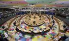Εικόνα από την αίθουσα της Συνόδου Κορυφής της ΕΕ στις Βρυξέλλες