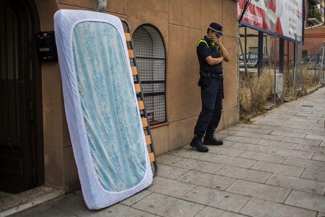 Στιγμιότυπο απο έξωση στη Μαδρίτη, Ισπανίας.