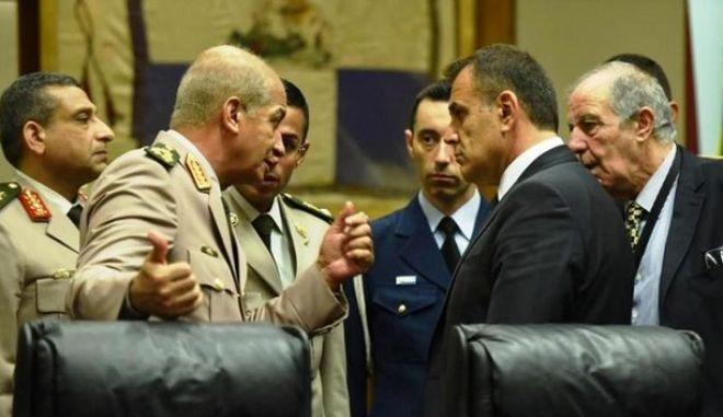 Επικοινωνία Παναγιωτόπουλου με τον Αιγύπτιο υπουργό Άμυνας