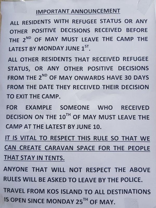Σε καμπ απειλούν τους αναγνωρισμένους πρόσφυγες με επέμβαση της αστυνομίας