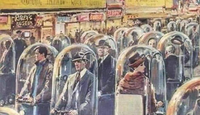 """Το σκίτσο από το 1962 που """"προέβλεψε"""" αυτό που ζούμε σήμερα"""