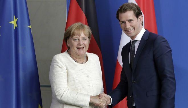 Η ανάγκη ενίσχυσης των εξωτερικών συνόρων της ΕΕ κοινή θέση Μέρκελ - Κουρτς