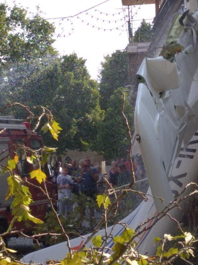 Πρώτη Σερρών: Πτώση μικρού αεροσκάφους - Ένας τραυματίας