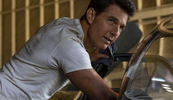 Σκηνή από τα γυρίσματα της ταινίας Top Gun: Maverick