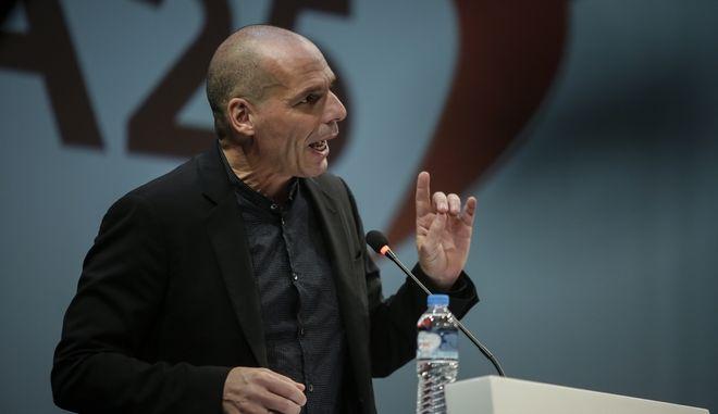 """Ο Γιάνης Βαρουφάκης στην ιδρυτική συνδιάσκεψη του """"Μέρα 25"""""""