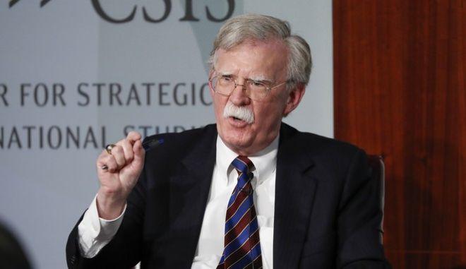 Ο πρώην σύμβουλος Εθνικής Ασφάλειας του Λευκού Οίκου, Τζον Μπόλτον