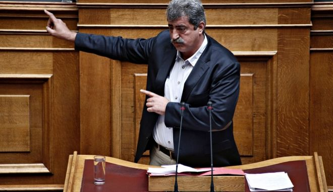 Discussion and voting on the upcoming Health care bill at the plenary hall of the Greek parliament, on August 3, 2017 /              , , 3  2017.