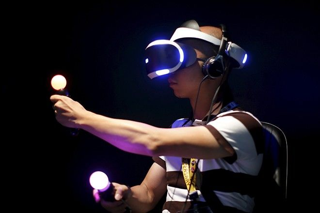 A man plays Sony's Project Morpheus