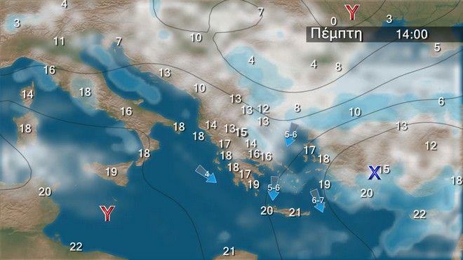 Ο καιρός στην Ελλάδα την Πέμπτη