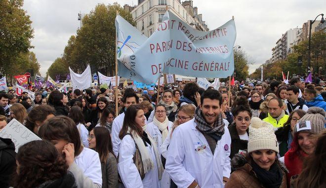 Από διαδήλωση των γιατρών στην Γαλλία