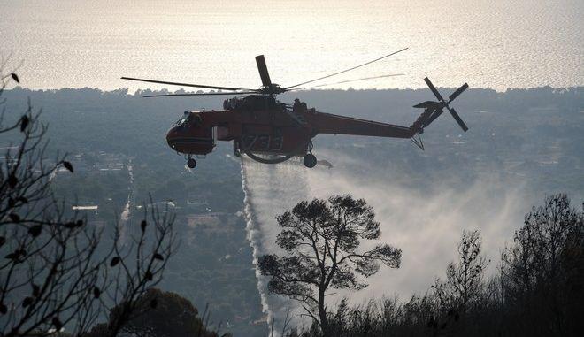 Πυρκαγιά στη Νέα Μάκρη Αττικής, σε δύο μέτωπα σε δασική έκταση στο Λιβίσι και στην Αγία Μαρίνα την Πέμπτη 5 Σεπτεμβρίου 2019. (EUROKINISSI/ΜΙΧΑΛΗΣ ΚΑΡΑΓΙΑΝΝΗΣ)