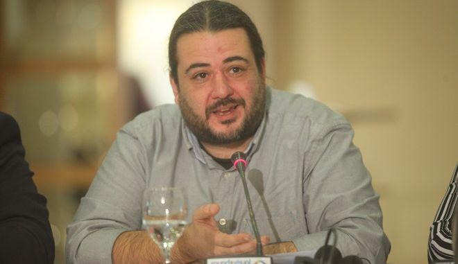 Σύνοδος Πρόεδρων του Κόμματος Ευρωπαϊκής Αριστεράς (ΚΕΑ) στην Αθήνα, Σάββατο 14 Μαρτίου 2015. Στη φωτογραφία ο Γραμματέας της Κ. Ε.  του ΣΥΡΙΖΑ Τάσος Κορωνάκης. (EUROKINISSI/ΚΩΣΤΑΣ ΚΑΤΩΜΕΡΗΣ)