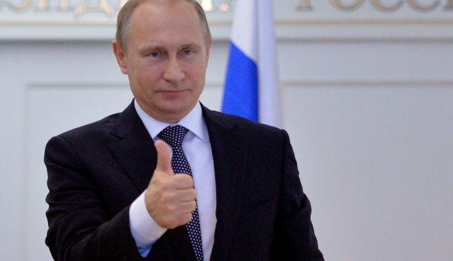 O Πρόεδρος της Ρωσίας Βλαντιμίρ Πούτιν (AP Photo/RIA Novosti, Alexei Druzhinin, Presidential Press Service)
