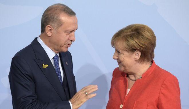 Η Άνγκελα Μέρκελ και ο Ταγίπ Ερντογάν