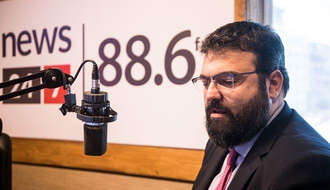 Ο Γ.Βασιλειάδης στο στούντιο του News 24/7 στους 88,6