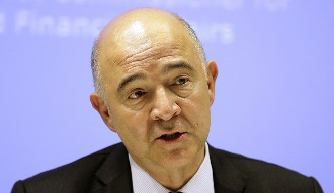 European Commissioner for Economy Pierre Moscovici speaks during a news conference in Athens, Tuesday, July 25, 2017. Greece is poised to tap international bond markets for the first time in three years in a move the government hopes will signal the country is ready to emerge from its bailout era. (AP Photo/Thanassis Stavrakis)