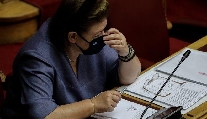Η υπουργός Πολιτισμού, Λίνα Μενδώνη.