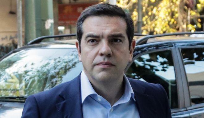 O πρόεδρος του ΣΥΡΙΖΑ Αλέξης Τσίπρας