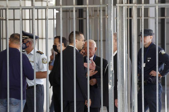 Ο πρώην βουλευτής Ηλίας Κασιδιάρης στο Εφετείο, όπου συνεχίζεται η δίκη της Χρυσής Αυγής, 16 Οκτωβρίου 2020