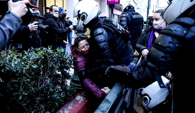 Αστυνομική καταστολήεντρωση διαμαρτυριας και αλληλεγγυης στον απεργο πεινας Δημητρη Κουφοντινα Παρασκευη 5 Μαρτιου 2021 (EUROKINISSI/ΣΩΤΗΡΗΣ ΔΗΜΗΤΡΟΠΟΥΛΟΣ