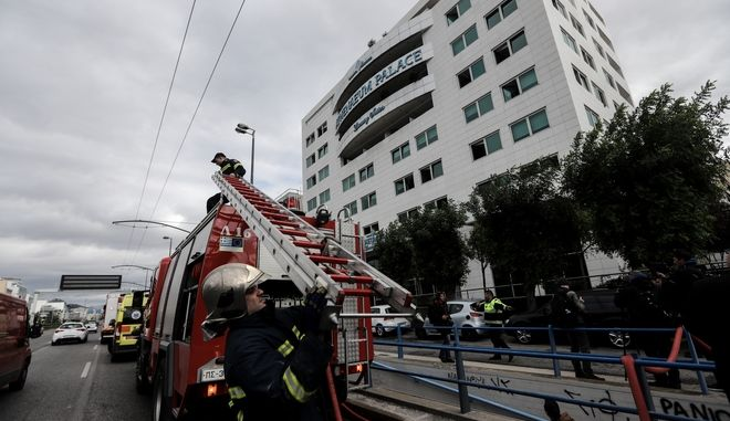 Πυρκαγιά σε ξενοδοχείο στην λεωφόρο Συγγρού στην Αθήνα την Πέμπτη 5 Δεκεμβρίου 2019