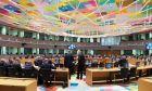 Στιγμιότυπο από τη συνεδρίαση του Eurogroup, στις Βρυξέλλες