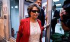 Η Κωνσταντίνα Κούνεβα στα γραφεία του ΣΥΡΙΖΑ