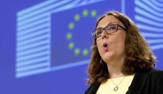H Επίτροπος Εμπορίου της ΕΕ, Σεσίλια Μάλστρομ