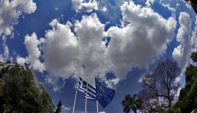 Στιγμιότυπο από το Μέγαρο Μαξίμου (EUROKINISSI/ΓΙΑΝΝΗΣ ΠΑΝΑΓΟΠΟΥΛΟΣ)