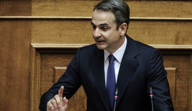 Ο πρωθυπουργός, Κ. Μητσοτάκης, στη Βουλή