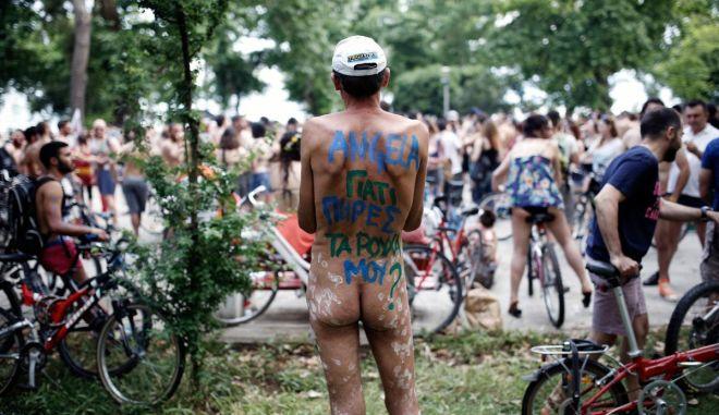 8th International Naked Bike Ride in Thessaloniki, Greece on June 5, 2015. / 8     ,   5  2015.