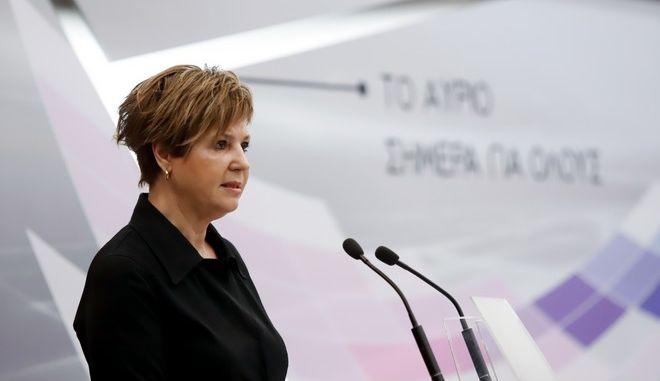 Η υπουργός Προστασίας του Πολίτη, Όλγα Γεροβασίλη,