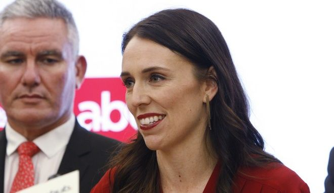 Jacinda Ardern talks to reporters on Thursday, Oct. 19, 2017, in Wellington, New Zealand. Ardern will be New Zealand's next prime minister and hopes to take the country on a more liberal path following nine years of rule by the conservatives. (AP Photo/Nick Perry)