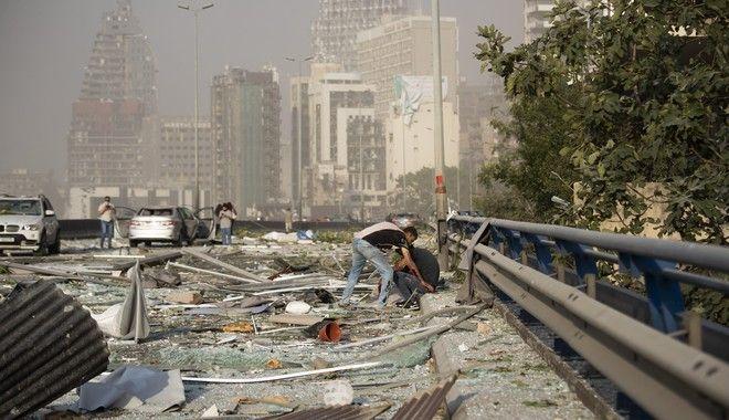Τεράστιες καταστροφές από την έκρηξη που συγκλόνισε την Βηρυτό