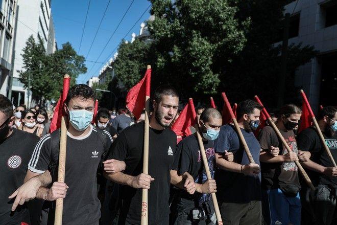 Πανεκπαιδευτικό συλλαλητήριο στην Αθήνα την Πέμπτη 15 Οκτωβρίου 2020. (EUROKINISSI/ΣΤΕΛΙΟΣ ΜΙΣΙΝΑΣ)