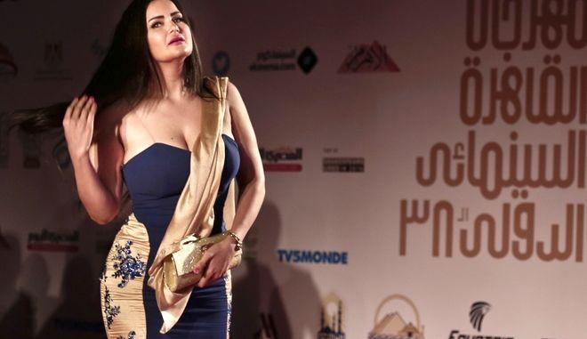 Η Sama El-Masry σε εκδήλωση του 2016.