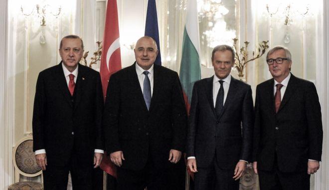 Ευρωτουρκική σύνοδος στη Βάρνα της Βουλγαρίας την δευτέρα 26 Μαρτίου 2018. (EUROKINISSI/ΕΥΡΩΠΑΪΚΗ ΕΝΩΣΗ)