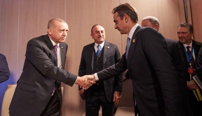 Συνάντηση του πρωθυπουργού με τον πρόεδρο της Τουρκίας Ταγίπ Ερντογάν