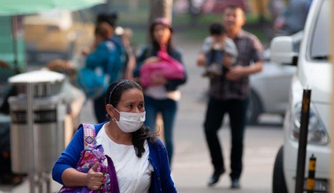 Πολίτες στην Μπογκοτά, εν μέσω πανδημίας