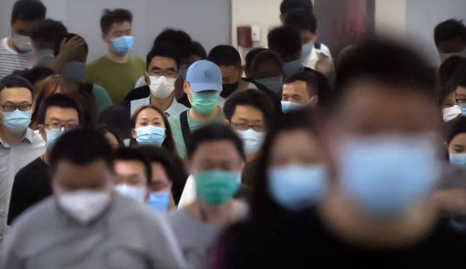 Στιγμιότυπο από σταθμό του μετρό στο Πεκίνο