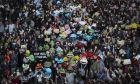 Διαδήλωση στο Χονγκ Κονγκ.