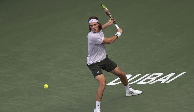 Ο Στέφανος Τσιτσιπάς στο Dubai Duty Free Tennis Championship