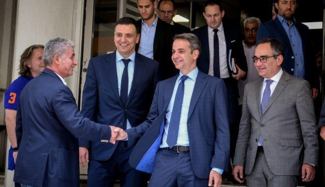 Επίσκεψη του Πρωθυπουργού Κυριάκου Μητσοτάκη στο υπουργείο Υγείας την Τρίτη 16 Ιουλίου 2019. (EUROKINISSI/ΤΑΤΙΑΝΑ ΜΠΟΛΑΡΗ)